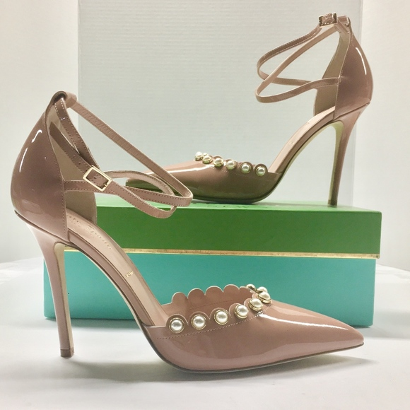db85dc795df3 kate spade Shoes - KATE SPADE Liana Patent Leather Pearl Pumps Heels